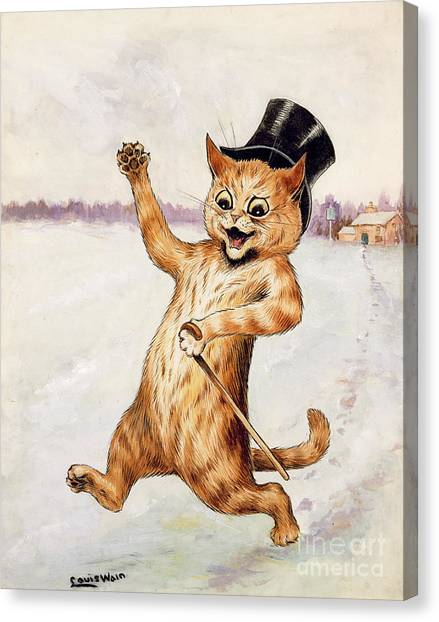 Gent Canvas Print - Top Cat by Louis Wain