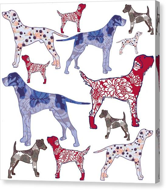 Dogs Canvas Print - Top Dogs by Sarah Hough