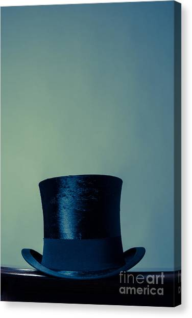 Hat Trick Canvas Print - Top Hat by Wolf Kettler
