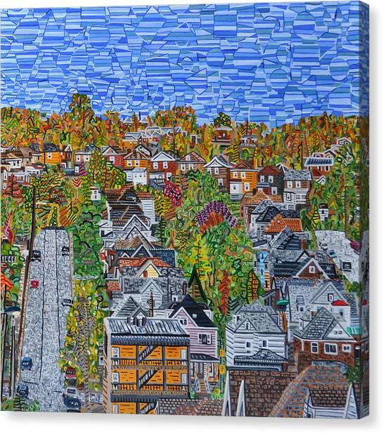 Top Of Hoosac Street Canvas Print by Micah Mullen