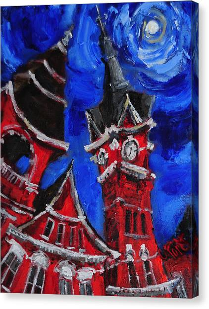 Auburn University Canvas Print - Top Of Samford Hall by Carole Foret