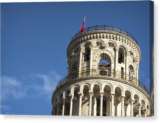 Top Of The Leaning Tower Of Pisa Canvas Print