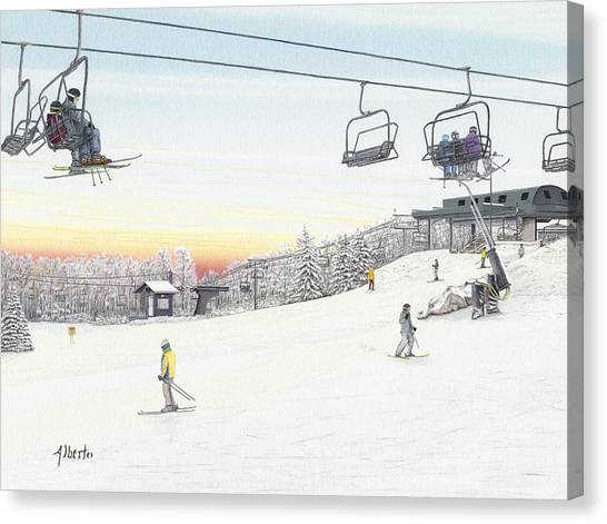 Top Of The Mountain At Seven Springs Canvas Print