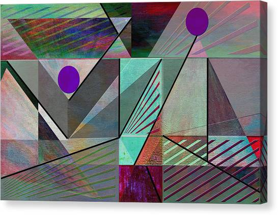 Frank Stella Canvas Print - Top Of The Pyramid by Linda Dunn