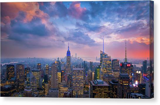 Top Of The Rock Canvas Print by Michael Zheng