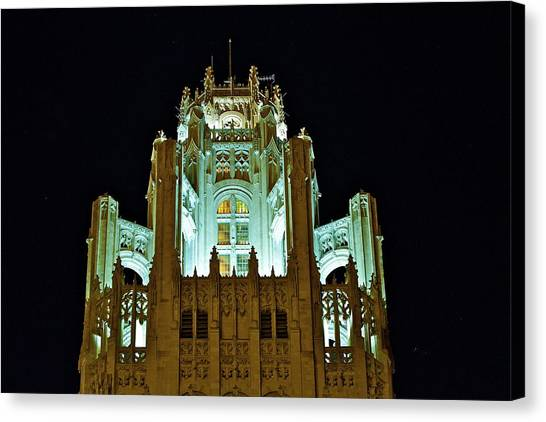 Top Of The Tribune Tower Canvas Print