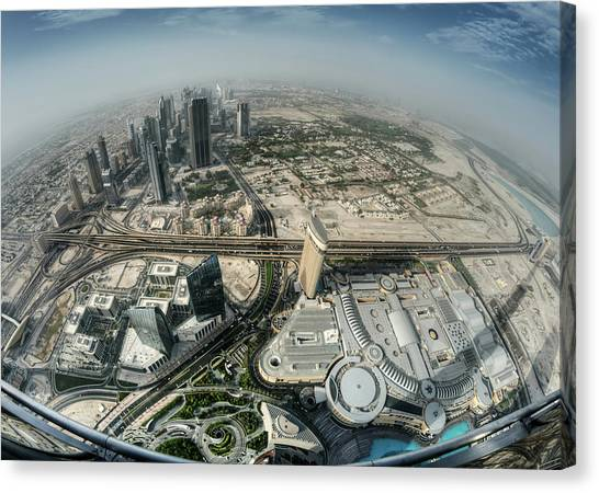 Dubai Skyline Canvas Print - Top Of The World by Robert Work