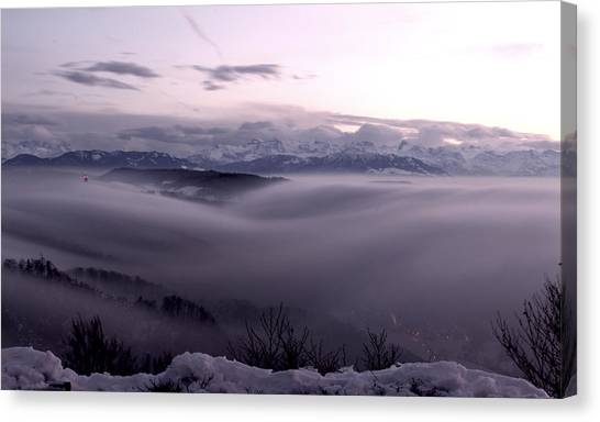 Top Of Zurich Canvas Print by Florian Strohmaier