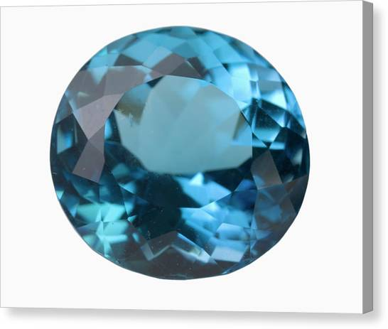 Topaz Gem Canvas Print by Science Stock Photography/science Photo Library