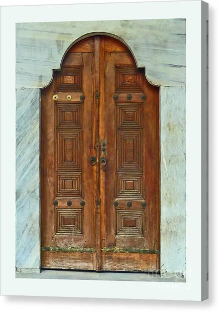 Topkapi Palace Door Istanbul Canvas Print