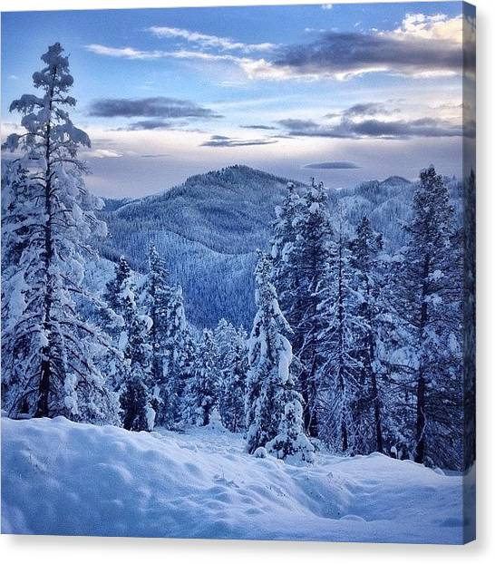 Snow Canvas Print - #topofwestfork I Love #snow And More by Cody Haskell