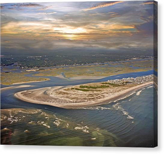 Sun Set Canvas Print - Topsail Island Paradise by Betsy Knapp