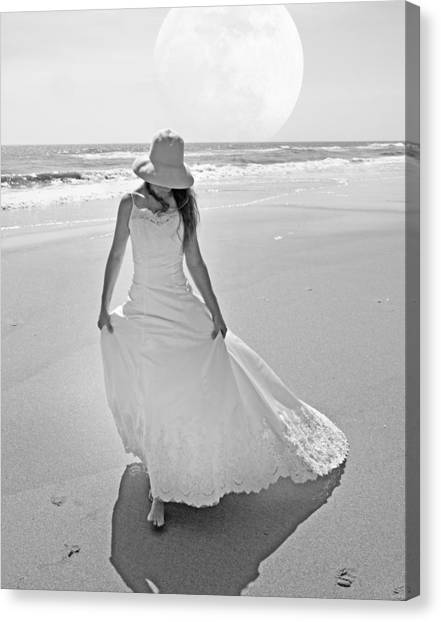 Wedding Gown Canvas Print - Topsail Paradise by Betsy Knapp