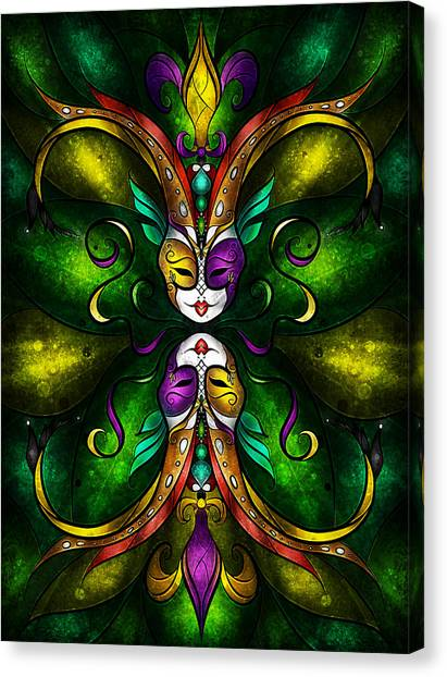 Mardi Gras Canvas Print - Topsy Turvy by Mandie Manzano