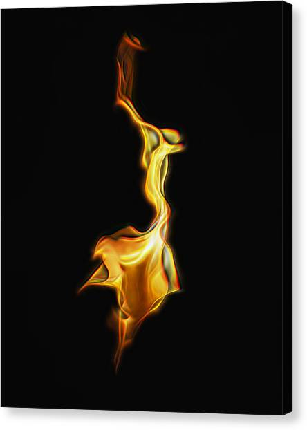 Torch In The Wind Canvas Print