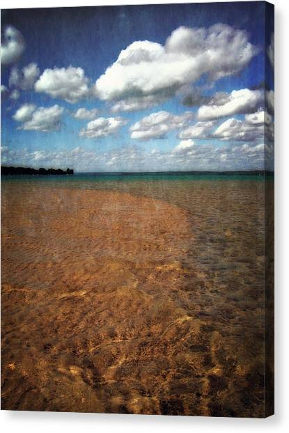 Torch Lake Sandbar 2.0 Canvas Print