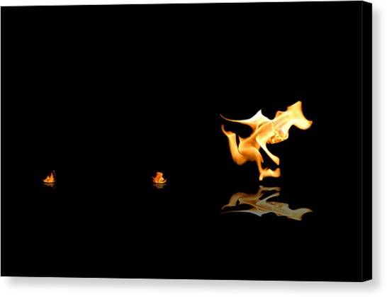 Torch Relay Canvas Print