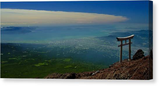 Mount Fuji Canvas Print - Tori by Aaron Bedell