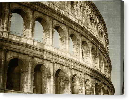The Amphitheatre Canvas Print - Torn From The Pages by Joan Carroll