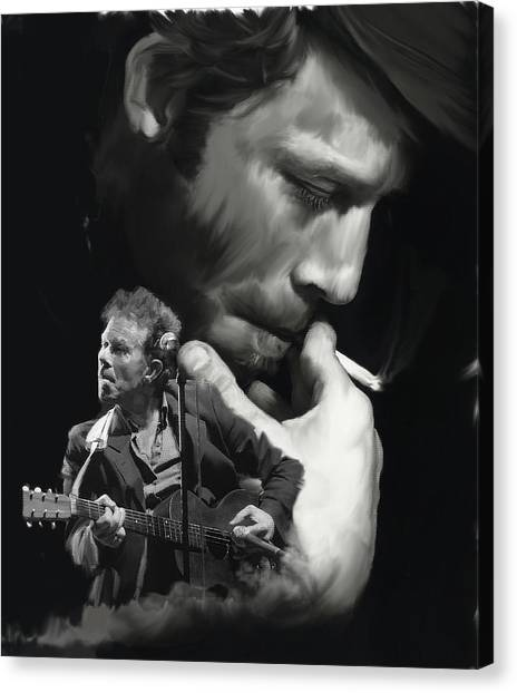 Torn Pages Tom Waits  Canvas Print