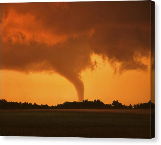 Tornado Sunset 11 X 14 Crop Canvas Print