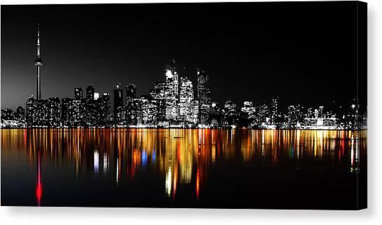 Toronto Skyline Canvas Print - Toronto After Dark by Andrew Fare