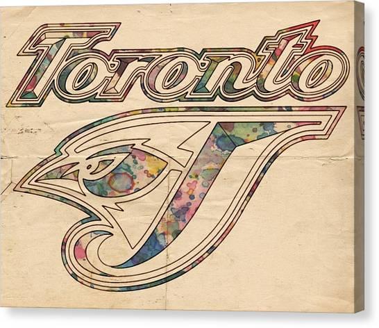 Toronto Blue Jays Canvas Print - Toronto Blue Jays Logo Art by Florian Rodarte