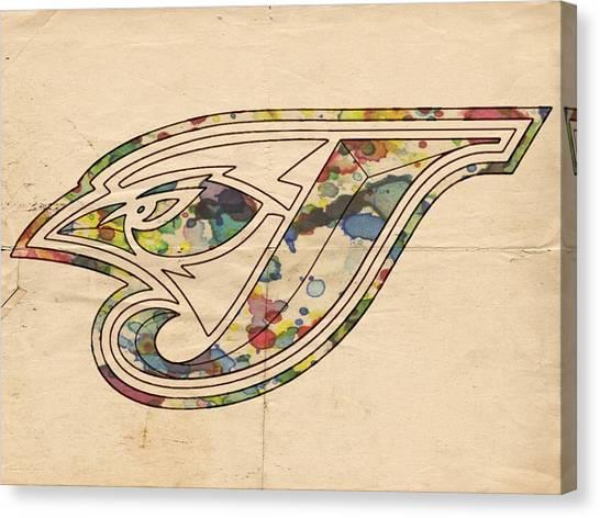 Toronto Blue Jays Canvas Print - Toronto Blue Jays Poster Vintage by Florian Rodarte