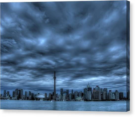 Toronto Blue Canvas Print by Max Witjes