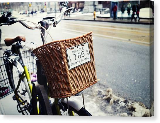 Toronto Islands Bicycle Canvas Print by Tanya Harrison