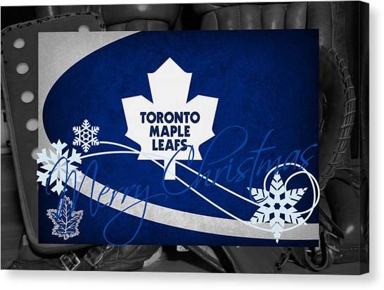 Toronto Maple Leafs Canvas Print - Toronto Maple Leafs Christmas by Joe Hamilton
