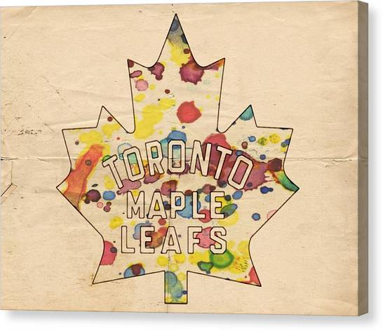 Toronto Maple Leafs Canvas Print - Toronto Maple Leafs Vintage Poster by Florian Rodarte