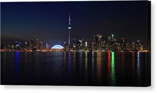 Toronto Night Skyline Canvas Print