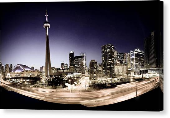 Toronto Skyline At Night Canvas Print