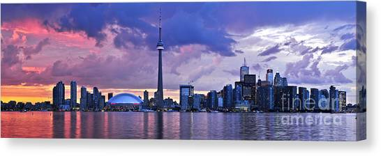 City Landscape Canvas Print - Toronto Skyline by Elena Elisseeva