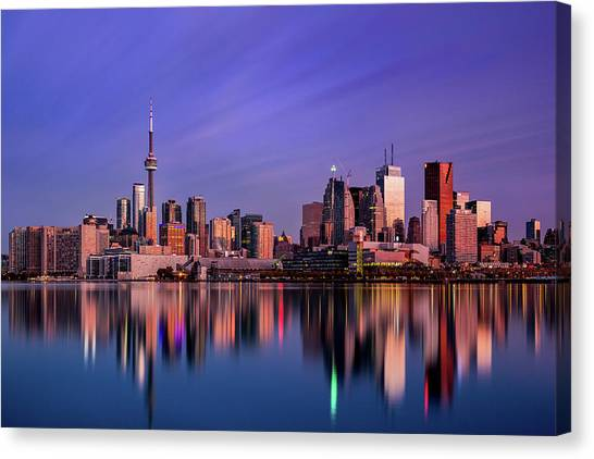 City Sunrises Canvas Print - Toronto Sunrise by Jason Crockett
