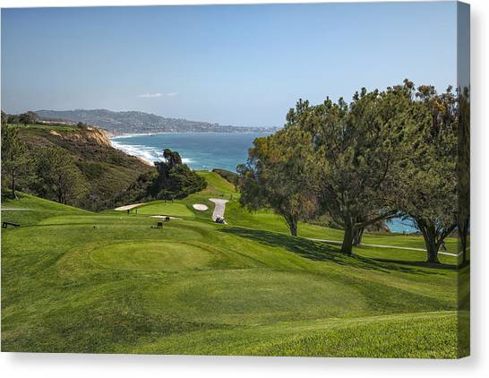 Golf Course Canvas Print - Torrey Pines Golf Course North 6th Hole by Adam Romanowicz