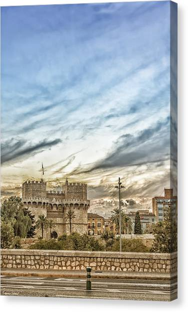 Architectonics Canvas Print - Torrres De Serranos. Valencia Spain by Erwan Grey