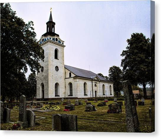 Torstuna Kyrka Church Canvas Print