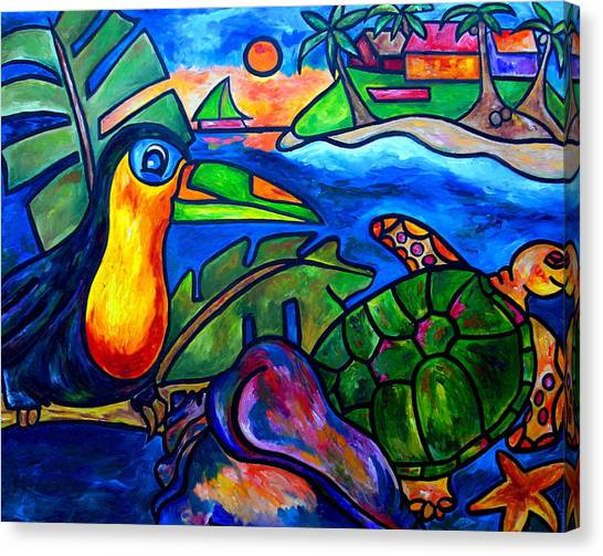 Tortuga Eco Tour Canvas Print by Patti Schermerhorn