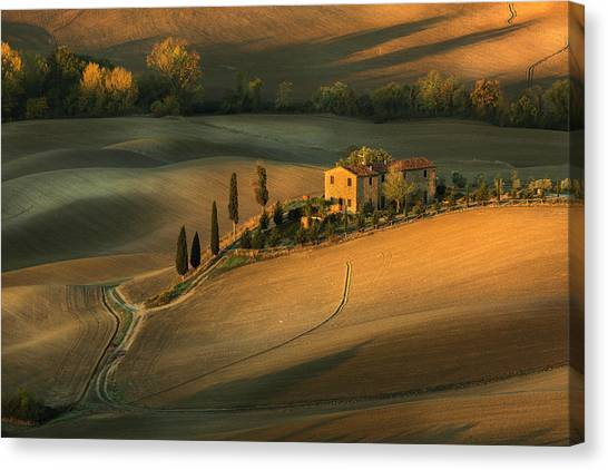 Rolling Hills Canvas Print - Toscany by Clas Gustafson Efiap
