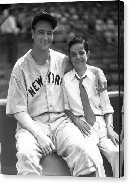 Braces Canvas Print - New York Great Lou Gehrig by Retro Images Archive