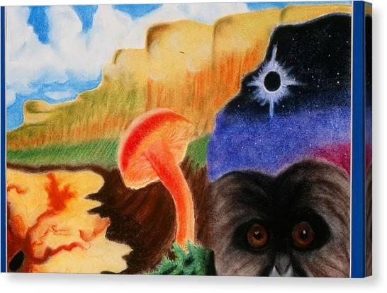Total Eclispe                Canvas Print