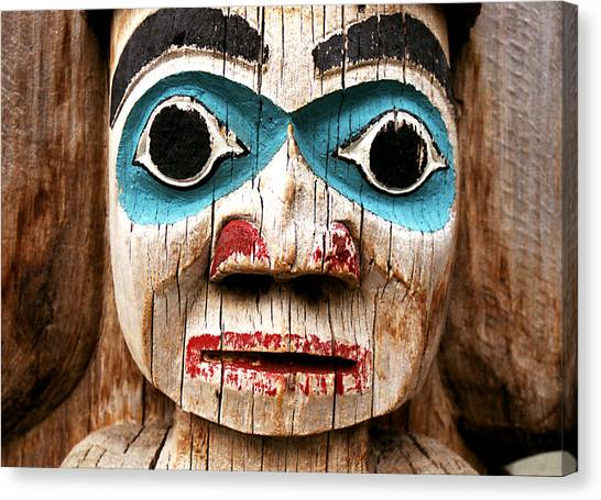 Totem Face Canvas Print