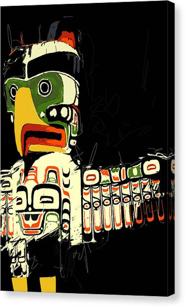 Vancouver Skyline Canvas Print - Totem Pole 01 by Catf