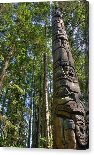 Totem Pole Canvas Print