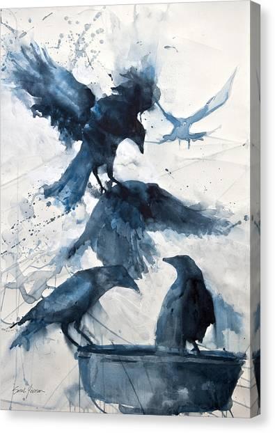 Fluid Canvas Print - Totem  by Sarah Yeoman
