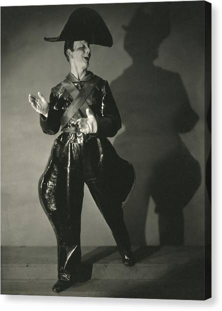 Follies Canvas Print - Toto, The Clown Of The Greenwich Village Follies by Edward Steichen