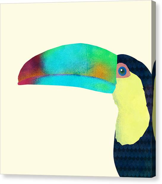 Blue Canvas Print - Toucan by Eric Fan
