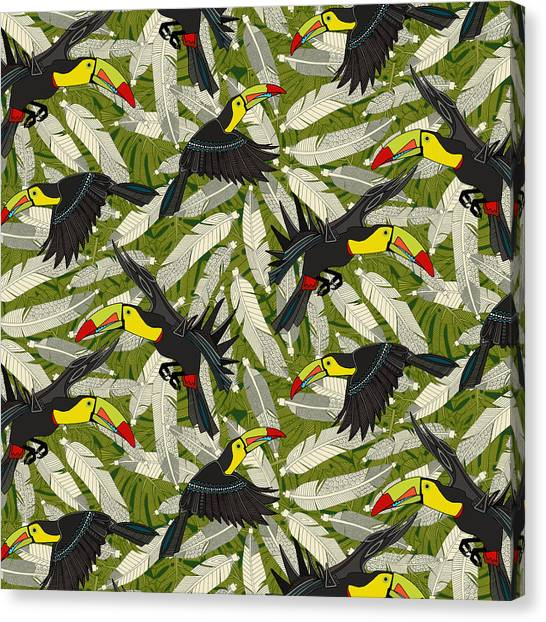 Toucans Canvas Print - Toucan Jungle by Sharon Turner